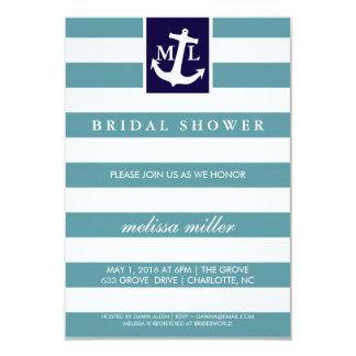 Bridal Shower Invite - Nautical Initials