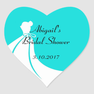 Bridal Shower Invite Seals Heart Sticker