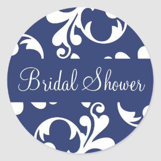 Bridal Shower Leaf Flourish Envelope Sticker Seal