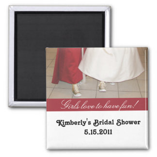 Bridal shower magnet party favor with dresses