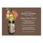 Bridal Shower Mason Jar and Wildflowers Personalised Announcements