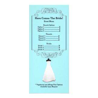Bridal Shower Menu Rackcard