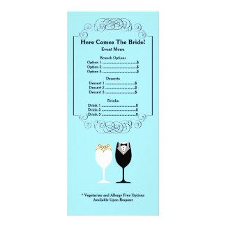 Bridal Shower Menu Rackcard Custom Rack Cards