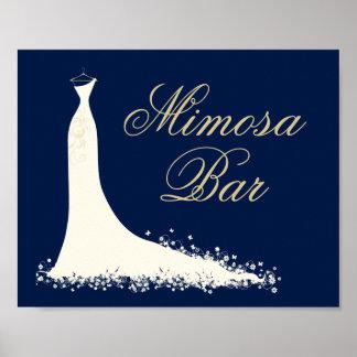 Bridal Shower Mimosa Sign | Elegant Wedding Gown