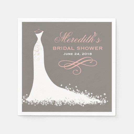 Bridal Shower Napkins | Elegant Wedding Gown Paper Napkin