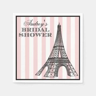Bridal Shower Napkins | Paris France Theme Disposable Serviette