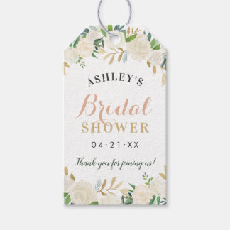 Bridal Shower | Neutral Blooms Gift Tags