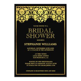 Bridal Shower | Ornate Gold Art Deco Damasks Card