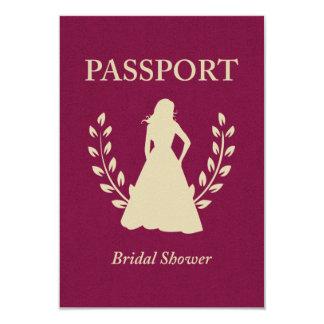 Bridal Shower Passport Card