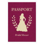 Bridal Shower Passport Custom Invitations