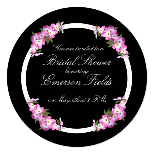 Bridal Shower Pink Dogwood Invitation