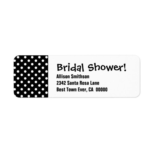 Bridal Shower Polka Dot Theme Template Return Address Label