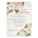 Bridal Shower Pretty Flower Vintage Lace Hydrangea 13 Cm X 18 Cm Invitation Card