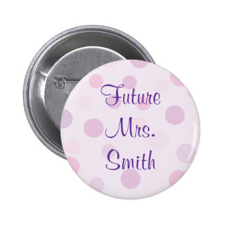 Bridal Shower Purple Polka Dot Theme Pins