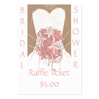 Bridal Shower Raffle Tickets Pack Of Chubby Business Cards