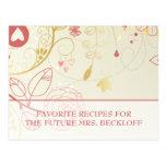 Bridal Shower Recipe Cards- Vintage Floral Postcards