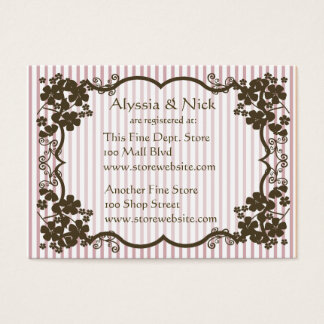 Bridal Shower Registry Card