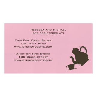baby shower bridal shower business cards 297 baby shower bridal shower busines card template. Black Bedroom Furniture Sets. Home Design Ideas