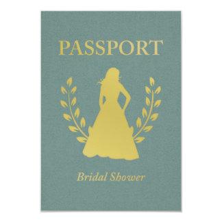 Bridal Shower Retro Passport 9 Cm X 13 Cm Invitation Card