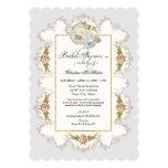 Bridal Shower Roses Tea Party Teapot n Teacups 13 Cm X 18 Cm Invitation Card