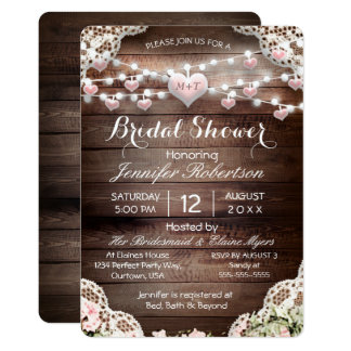 Bridal Shower Rustic Country Card