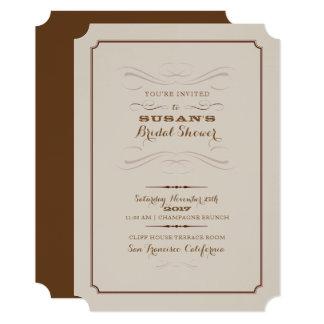 Bridal Shower Rustic Elegant Invite