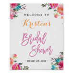 Bridal Shower Sign | Modern Watercolor Floral
