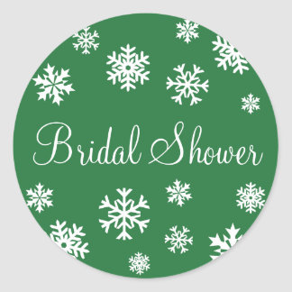 Bridal Shower Snowflakes Envelope Sticker Seal