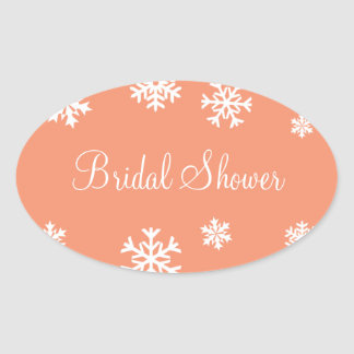 Bridal Shower Snowflakes Envelope Sticker Seal