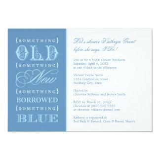 Bridal Shower | Something Old New Borrowed Blue 13 Cm X 18 Cm Invitation Card