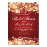 Bridal Shower Sparkling Lights Gold 13 Cm X 18 Cm Invitation Card