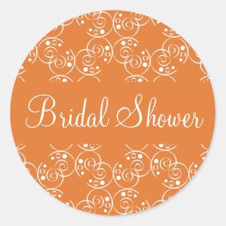 Bridal Shower Spiral Swirls Envelope Sticker Seal