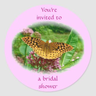 Bridal Shower Sticker Great Spangled Fritillary