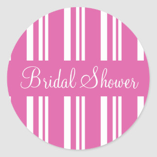 Bridal Shower Striped Envelope Sticker Seal