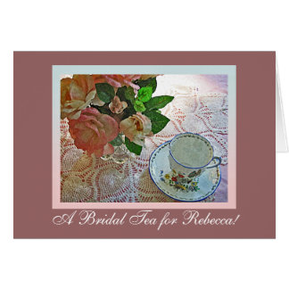 Bridal Shower Tea Greeting Card