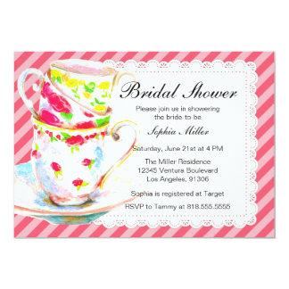 Bridal Shower Tea Party Card