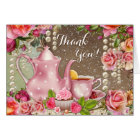 Bridal Shower Tea Party Thank You Card