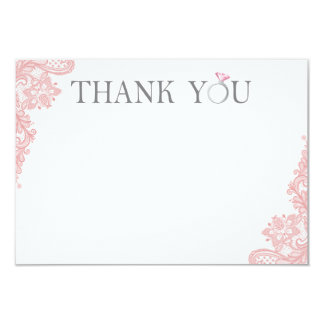 Bridal Shower Thank You Card - 3.5x5 Flat Card
