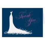 Bridal Shower Thank You Card Folded | Wedding Gown