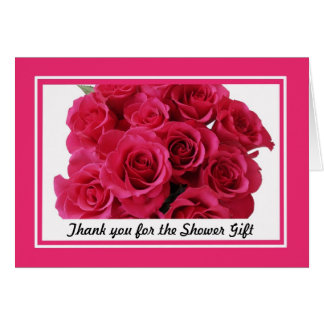 Bridal Shower Thank You Notes -- Rose bouquet