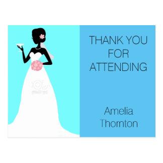 Bridal Shower Thank You Postcard