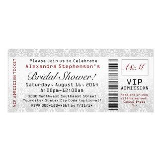 Bridal Shower Ticket Invitations