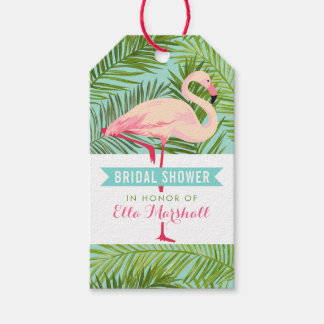 Bridal Shower | Tropical Flamingo Mahalo Gift Tags