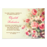 bridal shower victorian roses watercolor custom invitations