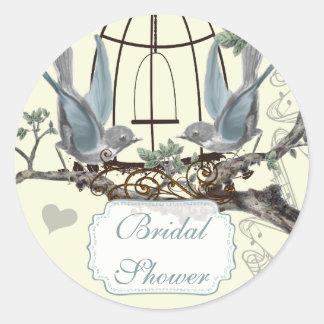 Bridal Shower Vintage Bluebird Wedding Seal