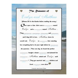 Bridal Shower Wedding Libs Game - Beach Flyer