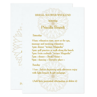 Bridal Shower Week-end, Monet's Dahlia suite,white Card