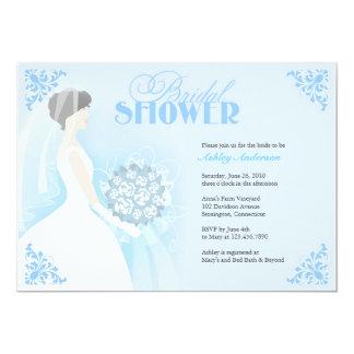 Bridal Shower White Dress Flat Invitation
