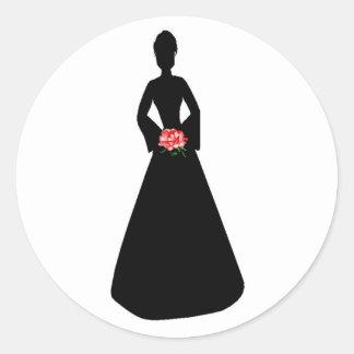Bridal Silhouette Round Sticker