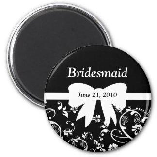 Bridal Swirls Bridal Party White Fridge Magnet